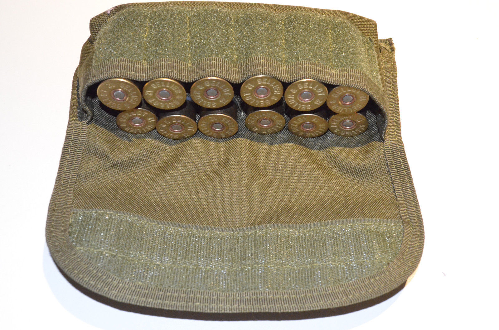 Shotgun Shell holder Tactical MOLLE Hunting ammo pouch OD Green