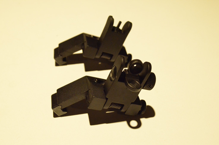 Reflex Metal Site 45 degree Back up battle sights 2pc