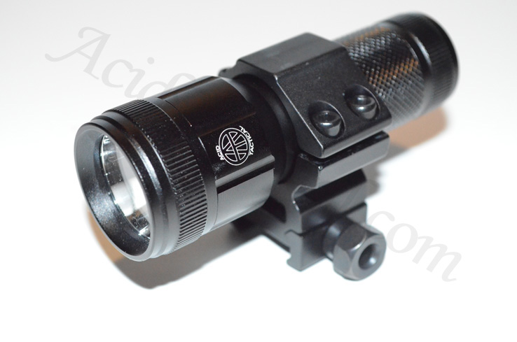 Compact LED Flashlight, Mount, Battery, & Pressure Switch