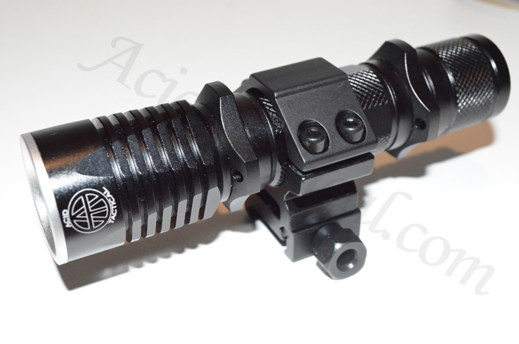 Tactical LED Flashlight. Battery, Charger, Mount, Pressure Switc