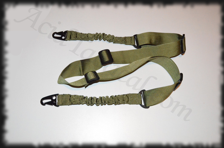 OD Green Bungee Rifle Sling 2 PT Two Point