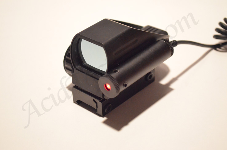 Red & Green Holographic Reflex Sight PLUS RED LASER