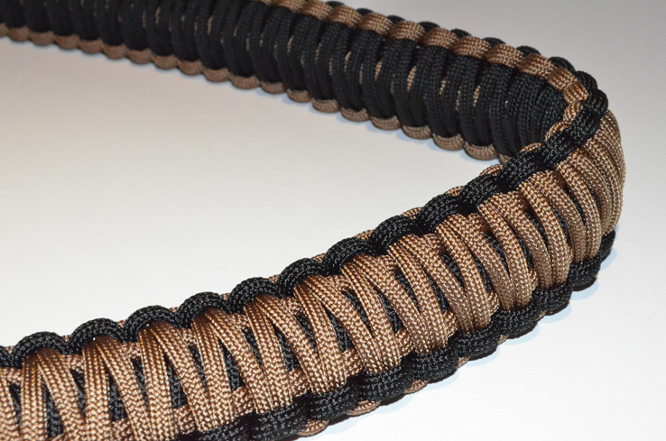 550 Tactical Paracord Rifle Sling Hook Clasp - Coyote Brown / Bl