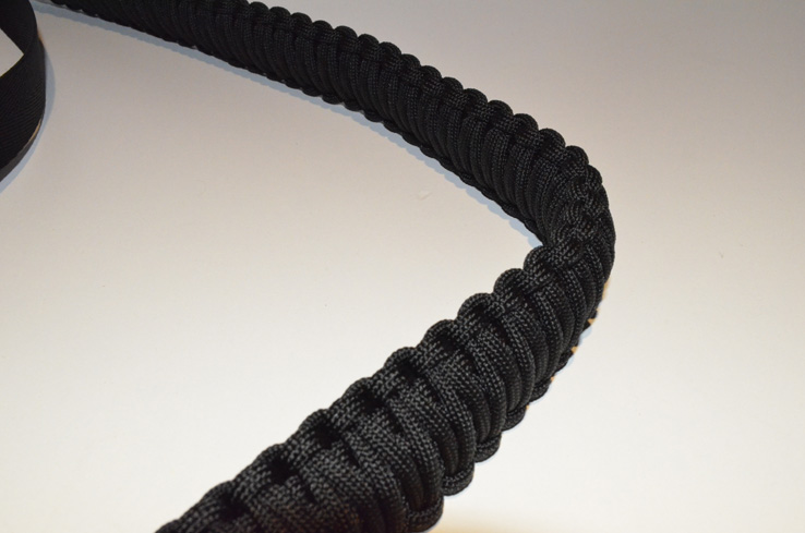 550 Tactical Paracord Rifle Sling Hook Clasp - Black / Black