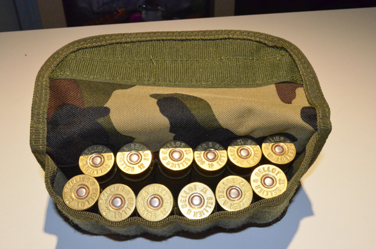 Shotgun Shell holder Tactical MOLLE Hunting ammo pouch Wood Camo