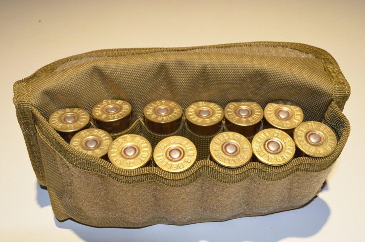 Shotgun Shell holder Tactical MOLLE Hunting ammo pouch - Tan