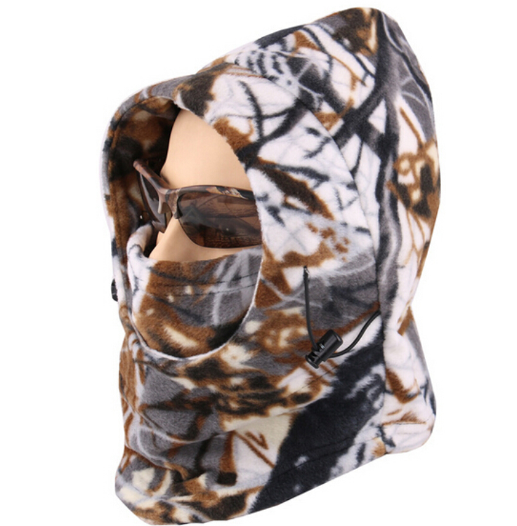 Cold Weather Camouflage Balaclava Face Mask Hood - Winter Wood C