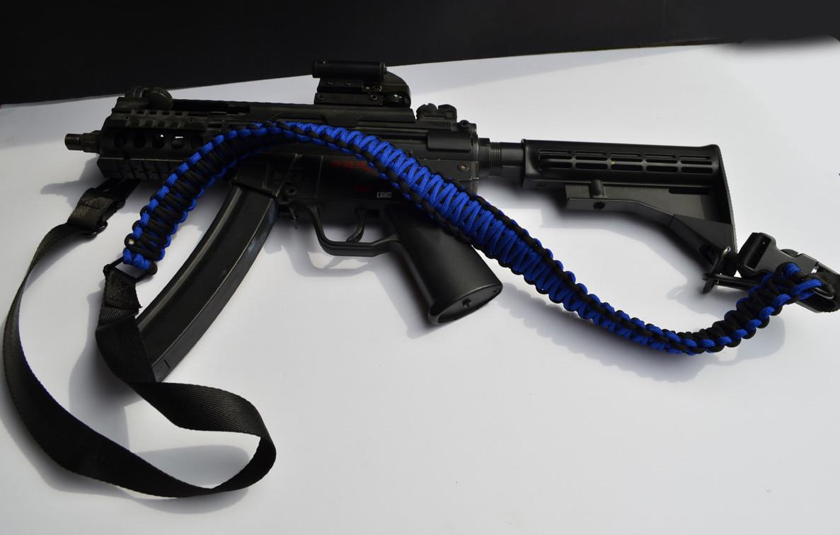 550 paracord rifle sling blue black acid tactical. Black Bedroom Furniture Sets. Home Design Ideas