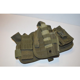 Tactical Drop Leg Thigh Holster Glock Springfield Ruger - OD Green