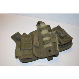 Tactical Drop Leg Thigh Holster Glock Springfield Ruger - OD Green