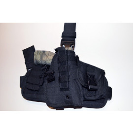 Tactical Drop Leg Thigh Holster Glock Springfield Ruger - Black