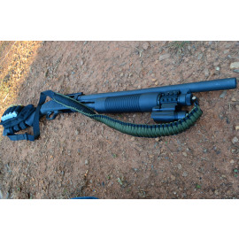 550 Paracord - 2 Point Rifle Gun Sling Swivel Stud Connectors (Green)