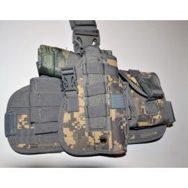 Tactical Drop Leg Thigh Holster Glock Springfield Ruger - Digital ACU