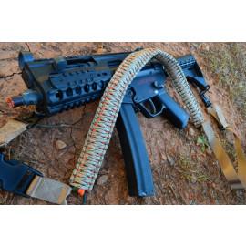 Tri-Color Paracord Rifle Gun Sling 2 or 1 Point Quick Detach - Copperhead Camo