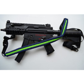 550 Paracord 1 or 2 point Tactical Rifle Gun Sling  - ALIEN 8