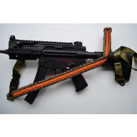 550 Paracord 1 or 2 point Tactical Rifle Gun Sling  - ORANGE TWIST