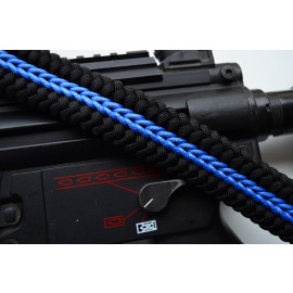 550 Paracord 1 or 2 point Tactical Rifle Gun Sling  - THIN BLUE LINE