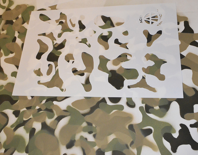 Camouflage spray paint stencils many camo stencil for Camo paint template