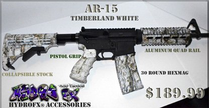 Hydro Dipped AR15 Accessories