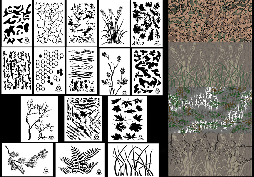 picture relating to Digital Camo Stencil Printable titled Spray All through Camo Stencils - Paint Stencils Acid Tactical®