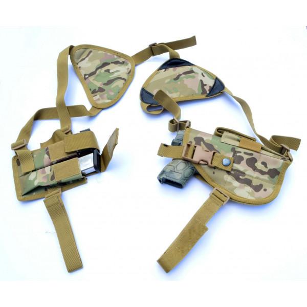 Concealed Carry Gun Holster Walther Ruger XD Glock Pistol Shoulder Holster  MULTICAM
