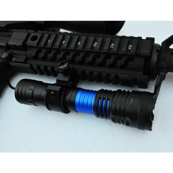 CREE T6 LED Flashlight For Rifles Shotguns with Picatinny mount 1500 Lumen Black
