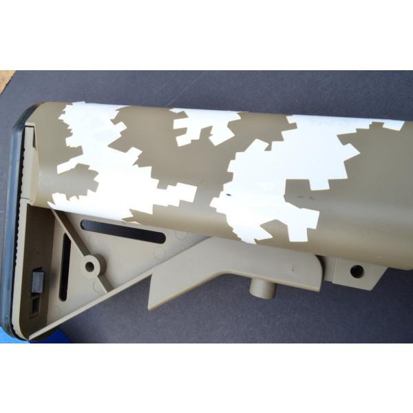 2pk ADHESIVE Camouflage Spray Paint Gun Stick-on Stencils WARPED DIGITAL