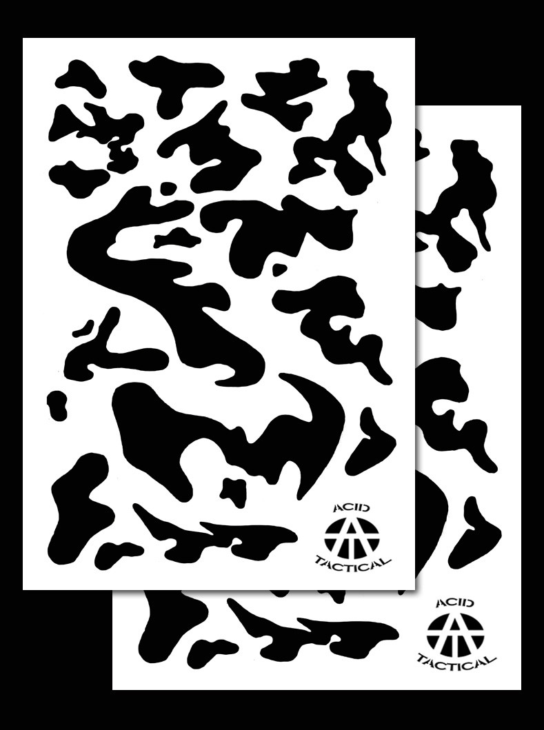 Army duracoat camo stencils 2 pack acid tactical for Camo paint template
