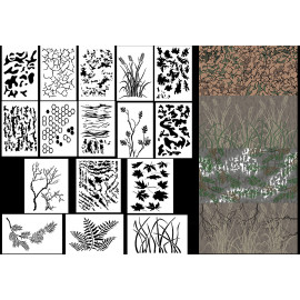 photo regarding Free Printable Camo Stencils for Guns named Camouflage Spray Paint Stencils - Plenty of Camo Stencil plans