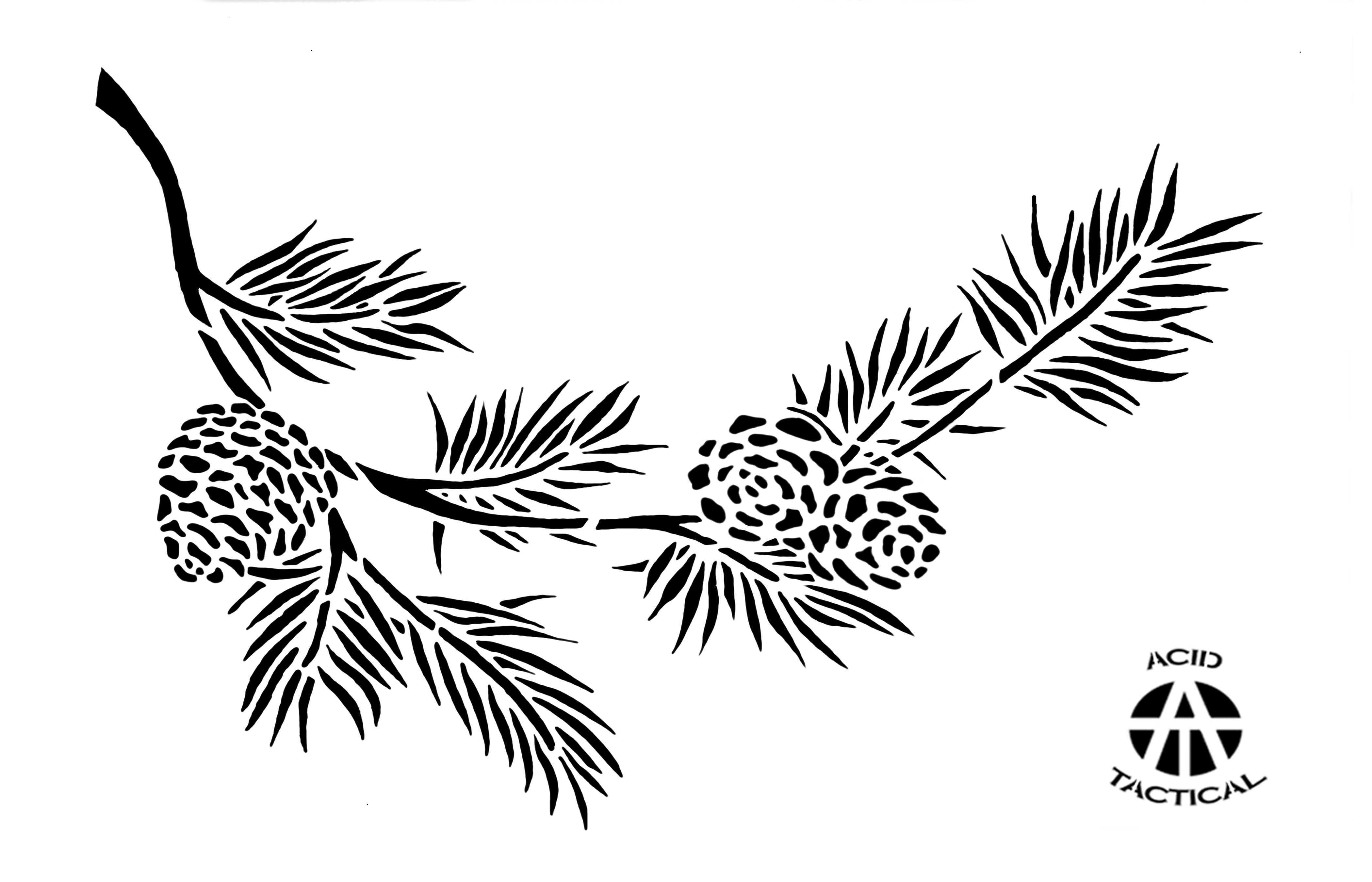 Pine Tree Template together with Coloriage Noel Sapin likewise Free Christmas Tree Template as well Sapin Noel Et Cadeaux Coloriage likewise Stock Illustration Hand Drawn Vector Illustrations Seamless Pattern Pine Cones Leaves Forest Background Image60064917. on pine cone christmas