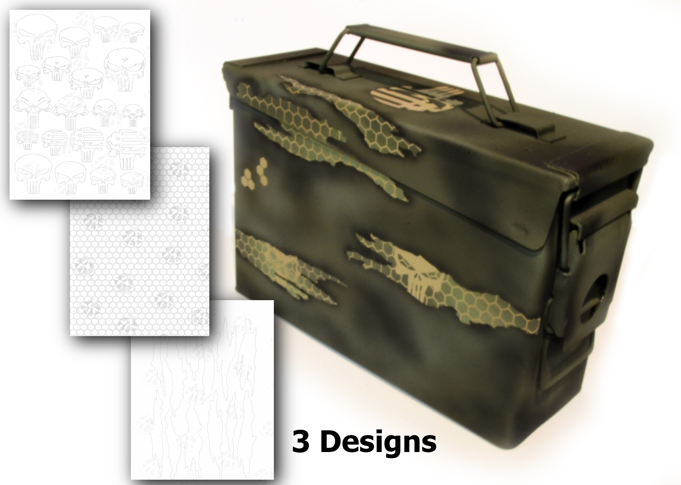 Adhesive gun painting camouflage stencils Acid Tactical®